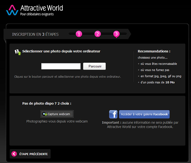 Site de rencontre attractive world. La datation.