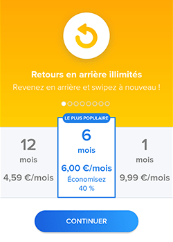 tinder plus prix tarif screenshot