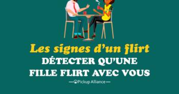 les signes d'un flirt