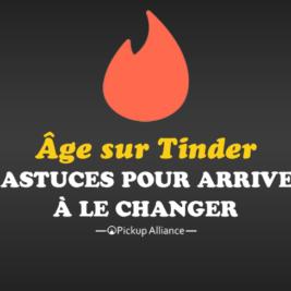 changer son âge sur tinder
